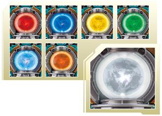 7色に発光するケルベロスキュータマ